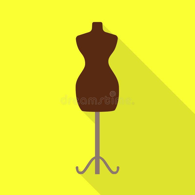 Wektorowy projekt mannequin i krawczyny symbol Set mannequin i manikin wektorowa ikona dla zapasu ilustracji