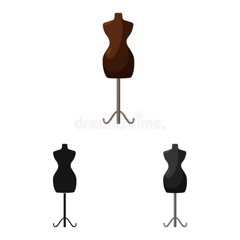 Wektorowy projekt mannequin i krawczyny znak Kolekcja mannequin i manikin akcyjny symbol dla sieci royalty ilustracja
