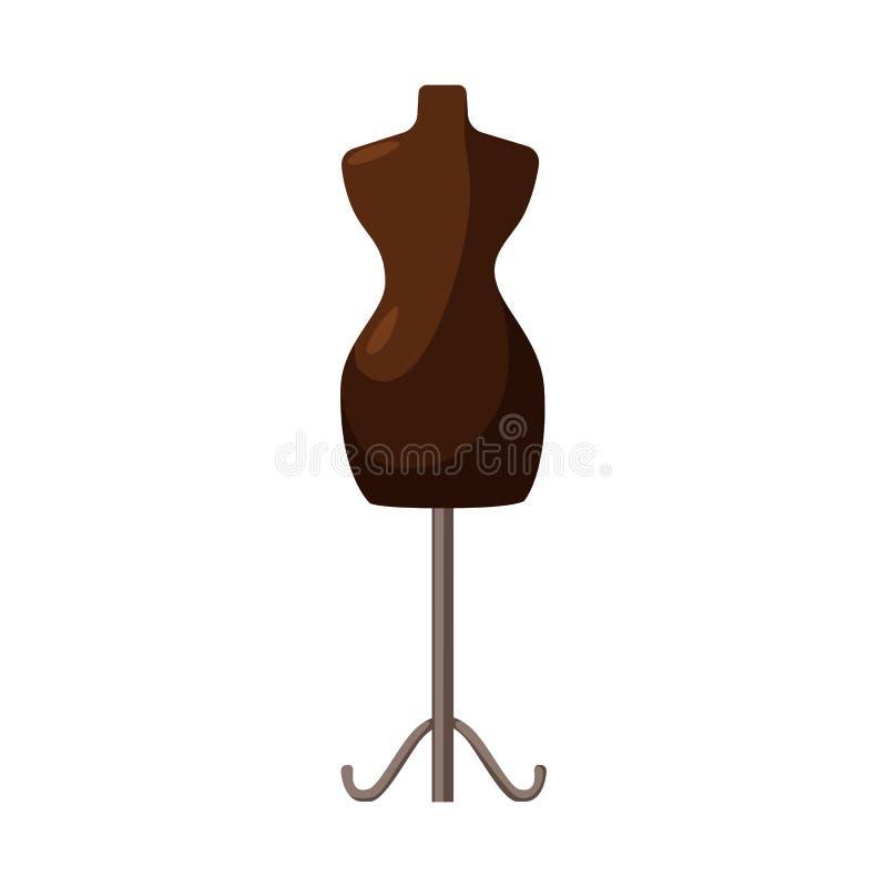 Wektorowy projekt mannequin i krawczyny znak Kolekcja mannequin i manikin akcyjny symbol dla sieci ilustracji