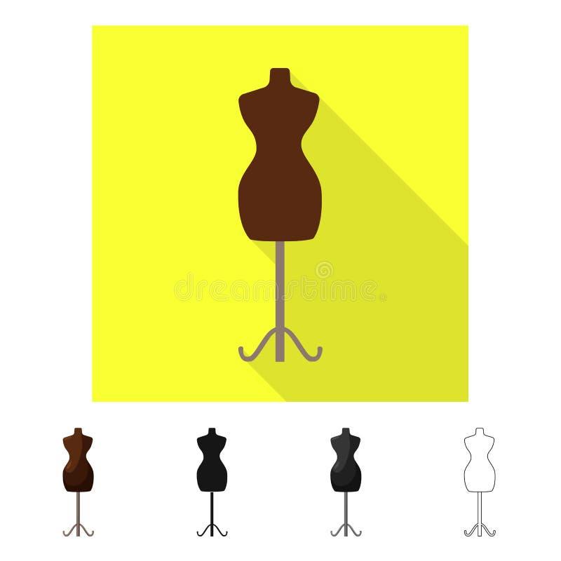 Wektorowy projekt mannequin i krawczyny znak Set mannequin i manikin akcyjny symbol dla sieci ilustracja wektor