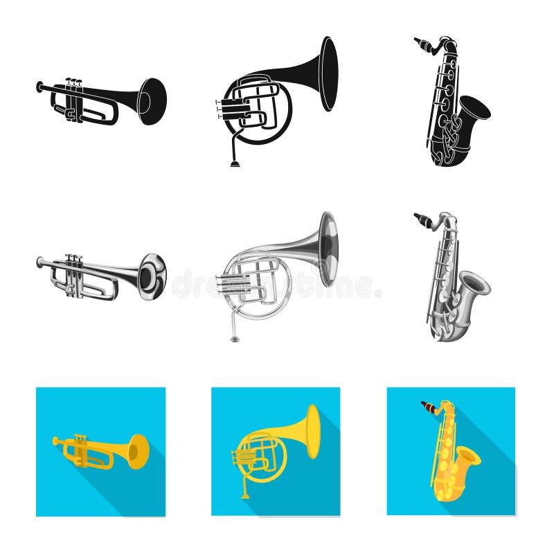 Wektorowy projekt muzyki i melodii logo Kolekcja muzyka i narzędzie akcyjna wektorowa ilustracja ilustracja wektor