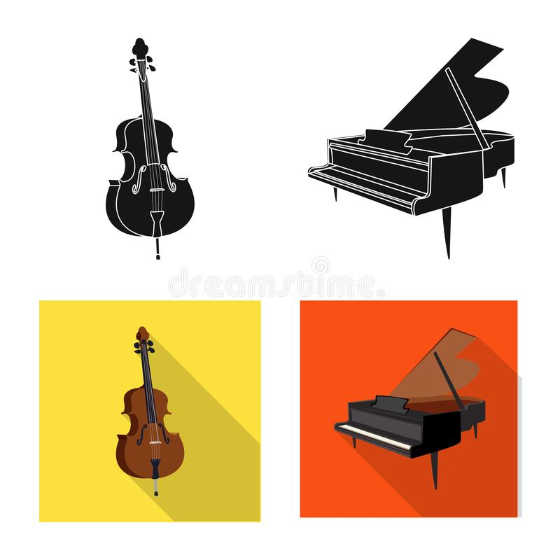 Wektorowy projekt muzyki i melodii logo Set muzyka i narzędzie wektorowa ikona dla zapasu royalty ilustracja