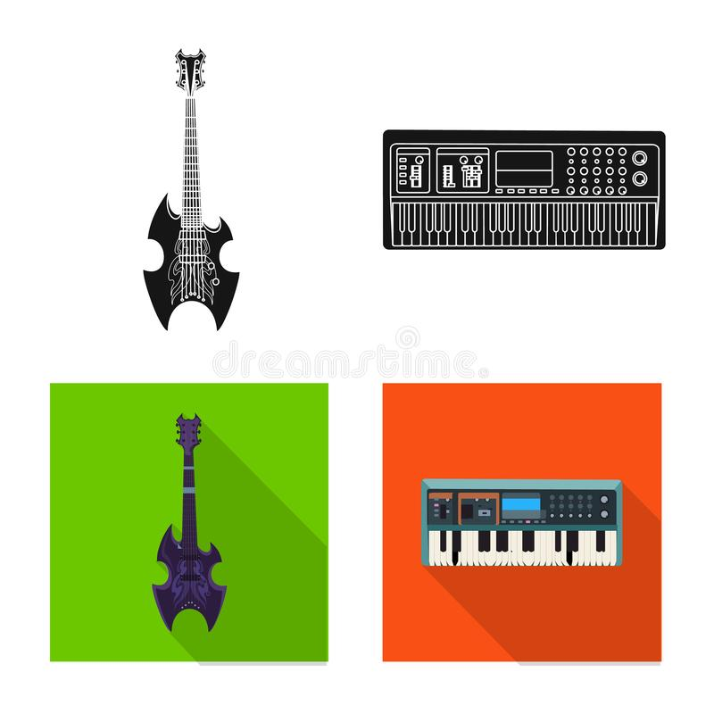 Wektorowy projekt muzyki i melodii symbol Kolekcja muzyka i narzędzie wektorowa ikona dla zapasu ilustracji
