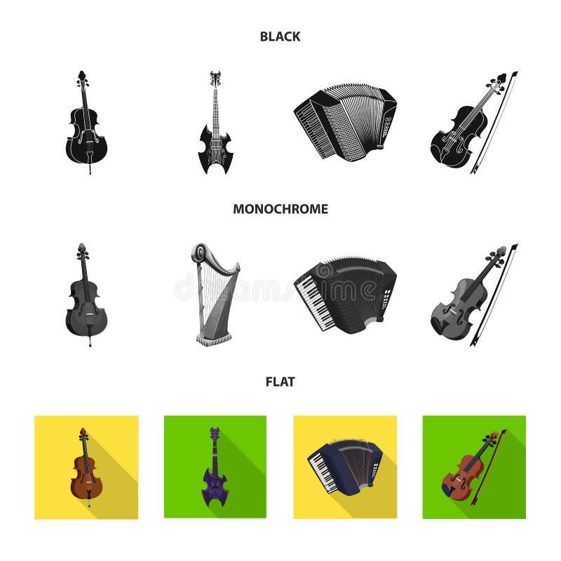 Wektorowy projekt muzyki i melodii symbol Set muzyka i narzędzie wektorowa ikona dla zapasu ilustracji