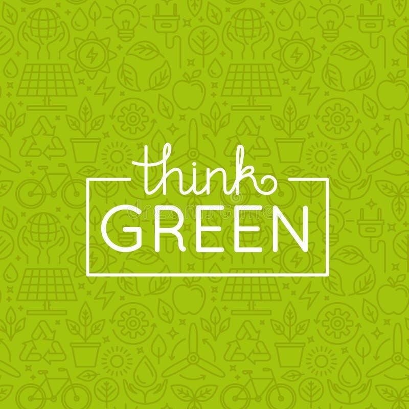 Wektorowy projekt - myśli zieleń ilustracji