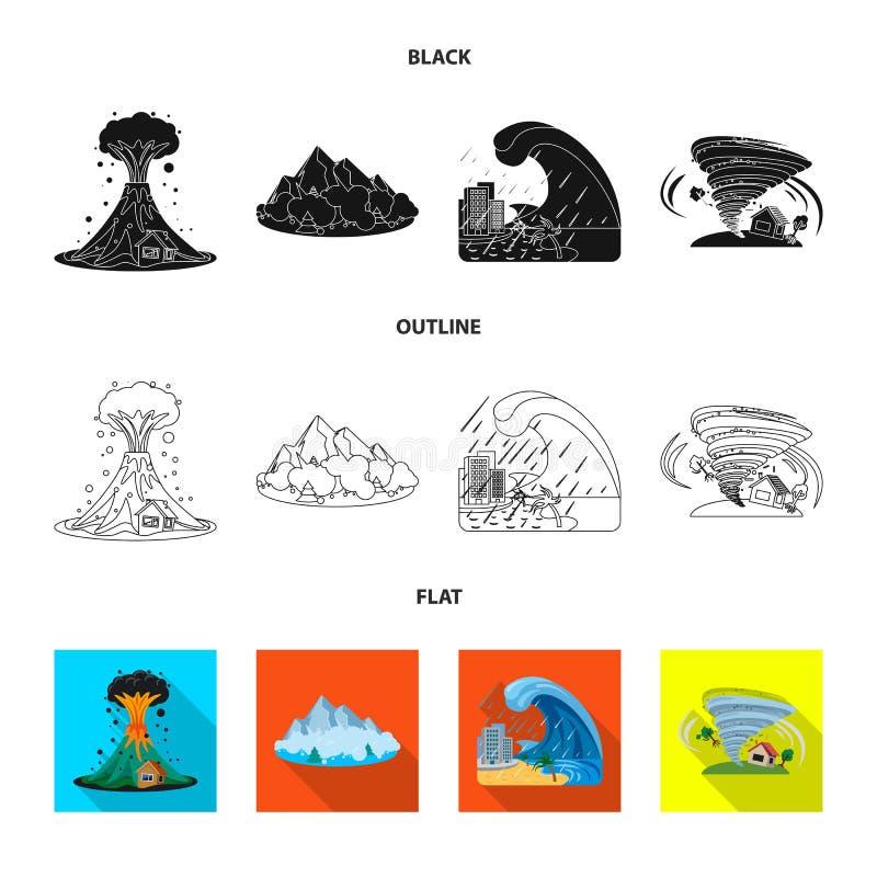 Wektorowy projekt naturalna i katastrofa ikona Kolekcja naturalny i ryzyko akcyjny symbol dla sieci ilustracji