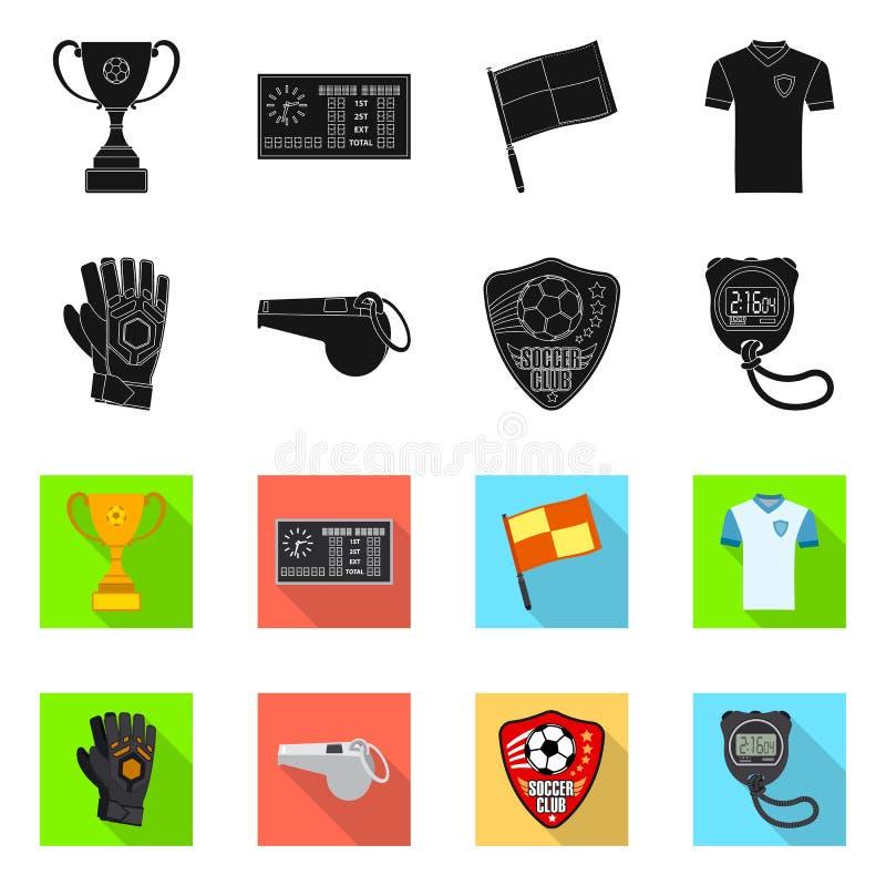 Wektorowy projekt piłka nożna i przekładni ikona Kolekcja piłki nożnej i turnieju wektorowa ikona dla zapasu royalty ilustracja