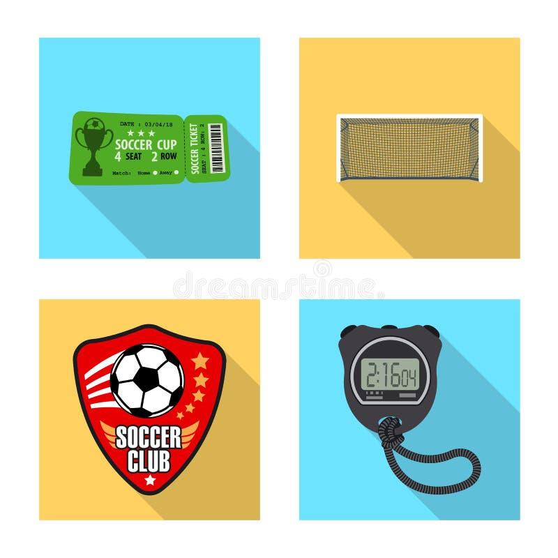 Wektorowy projekt piłka nożna i przekładnia znak Kolekcja piłki nożnej i turnieju akcyjny symbol dla sieci ilustracja wektor