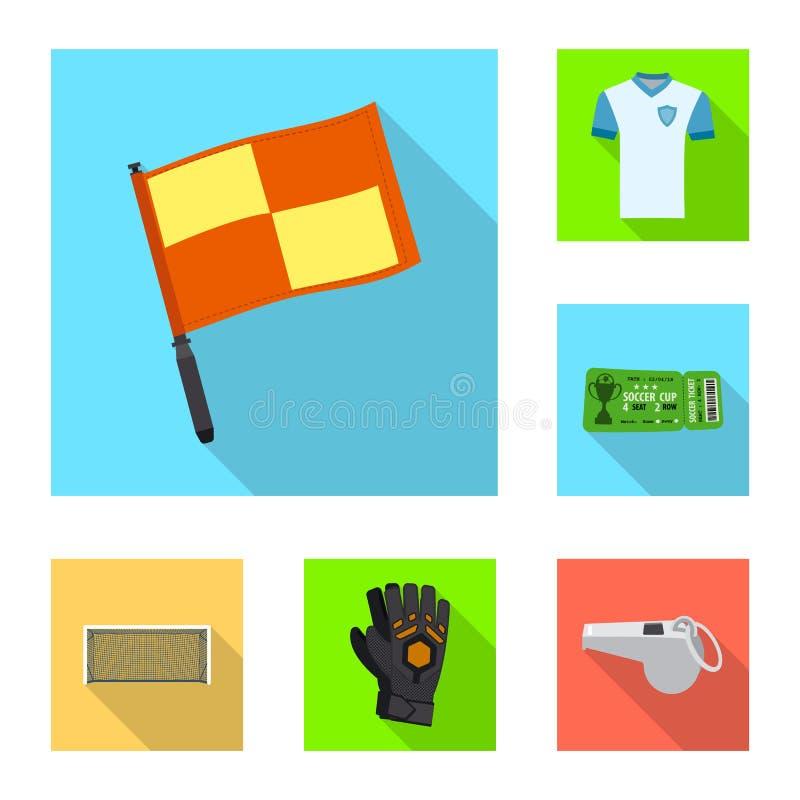 Wektorowy projekt piłka nożna i przekładnia znak Set piłki nożnej i turnieju akcyjna wektorowa ilustracja ilustracji
