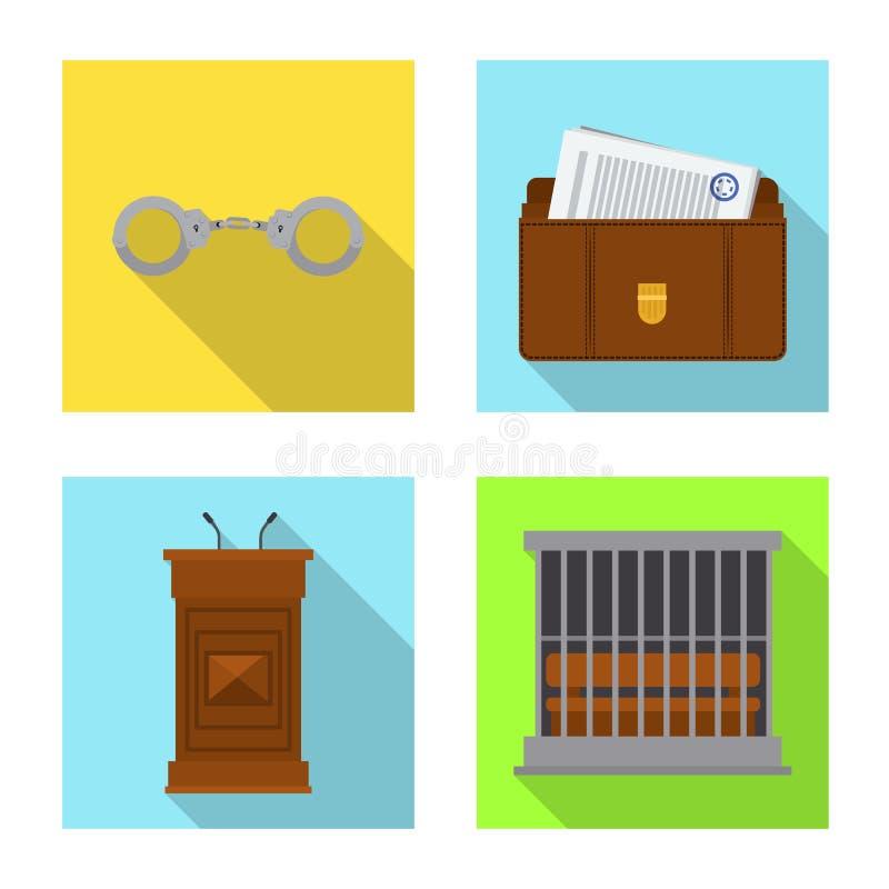 Wektorowy projekt prawo i prawnika logo Kolekcja prawa i sprawiedliwo?ci wektorowa ikona dla zapasu royalty ilustracja