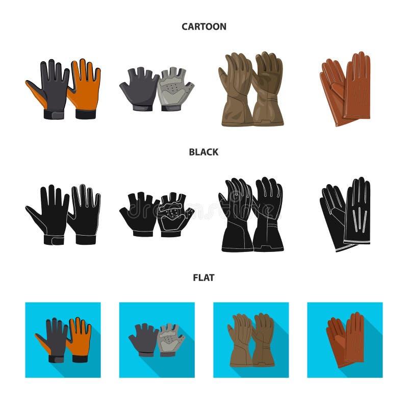 Wektorowy projekt rękawiczka i zima symbol Kolekcja rękawiczki i wyposażenia wektorowa ikona dla zapasu ilustracja wektor