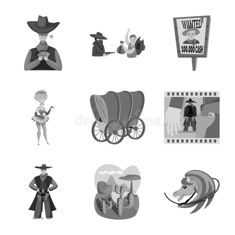 Wektorowy projekt rancho i gospodarstwa rolnego ikona Set rancho i historii akcyjna wektorowa ilustracja ilustracji