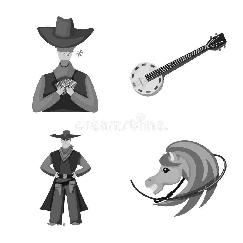 Wektorowy projekt rancho i gospodarstwa rolnego znak Kolekcja rancho i historii wektorowa ikona dla zapasu ilustracja wektor