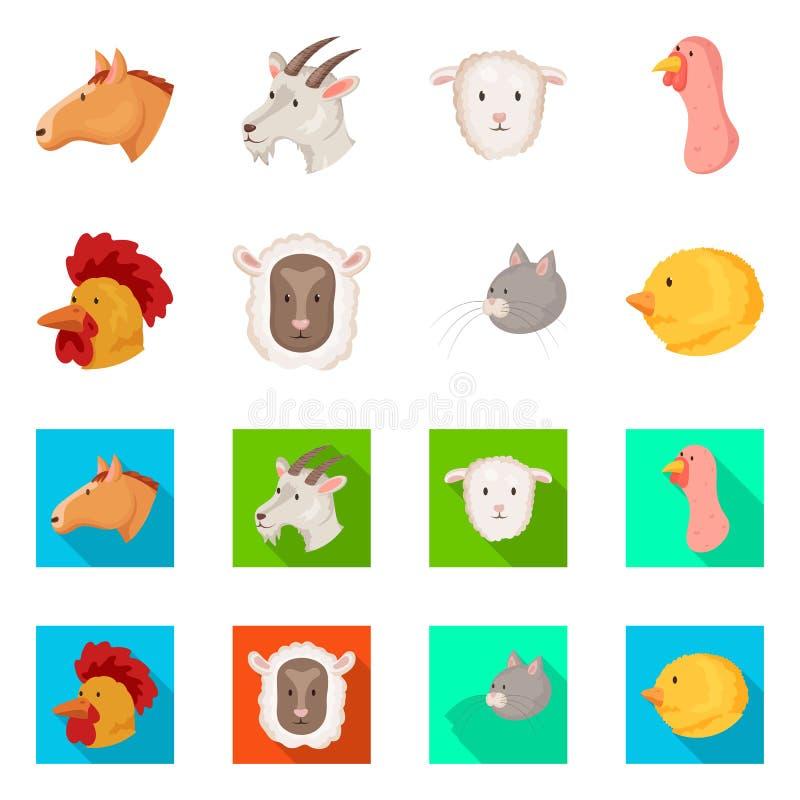 Wektorowy projekt rolnictwa i hodowli ikona Kolekcja rolnictwo i organicznie akcyjny symbol dla sieci ilustracji
