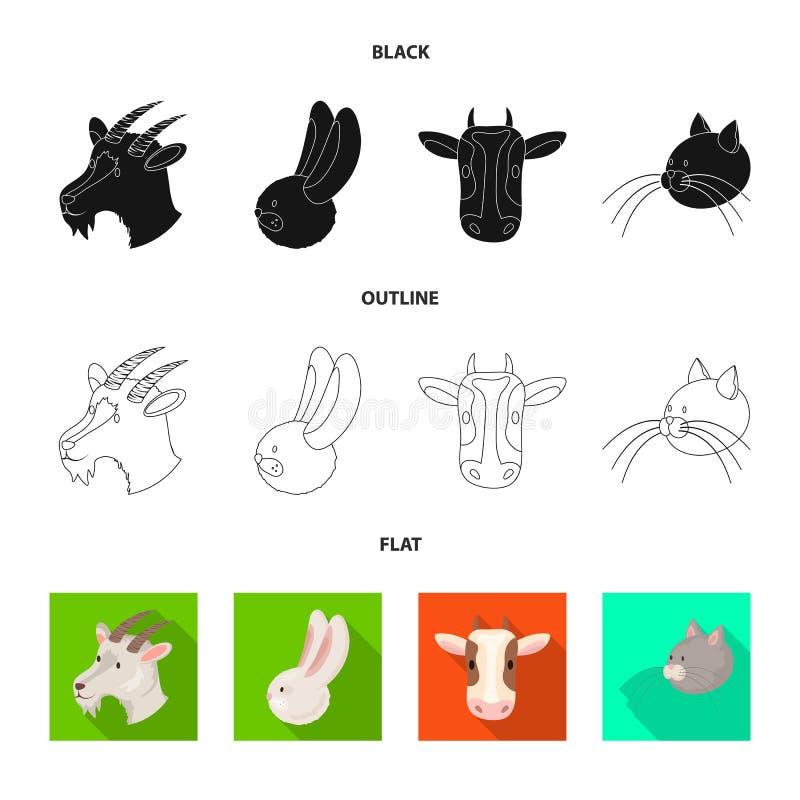 Wektorowy projekt rolnictwa i hodowli logo Kolekcja rolnictwo i organicznie akcyjna wektorowa ilustracja ilustracja wektor
