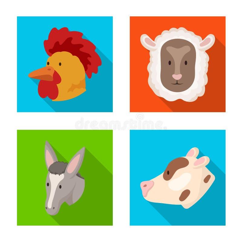 Wektorowy projekt rolnictwa i hodowli symbol Set rolnictwo i organicznie akcyjny symbol dla sieci ilustracji