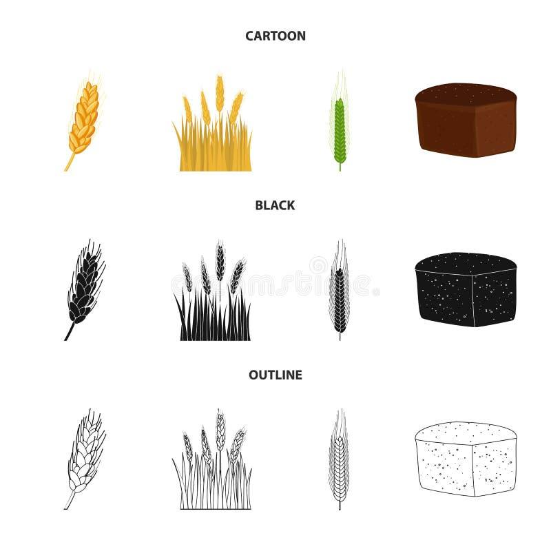Wektorowy projekt rolnictwo i uprawia? ziemi? ikona Set rolnictwo i ro?liny akcyjna wektorowa ilustracja ilustracja wektor