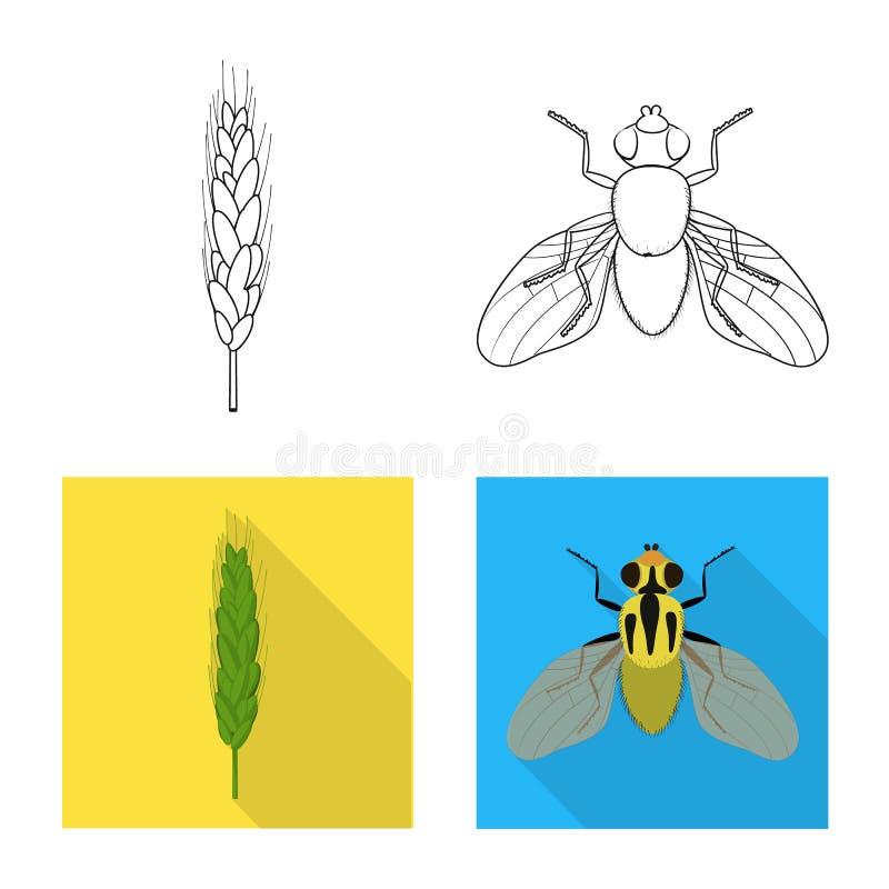 Wektorowy projekt rolnictwo i uprawia? ziemi? symbol Kolekcja rolnictwo i ro?liny akcyjna wektorowa ilustracja ilustracji