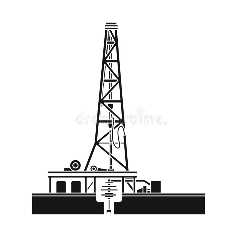 Wektorowy projekt ropa i gaz ikona Set oleju i benzyny akcyjna wektorowa ilustracja royalty ilustracja