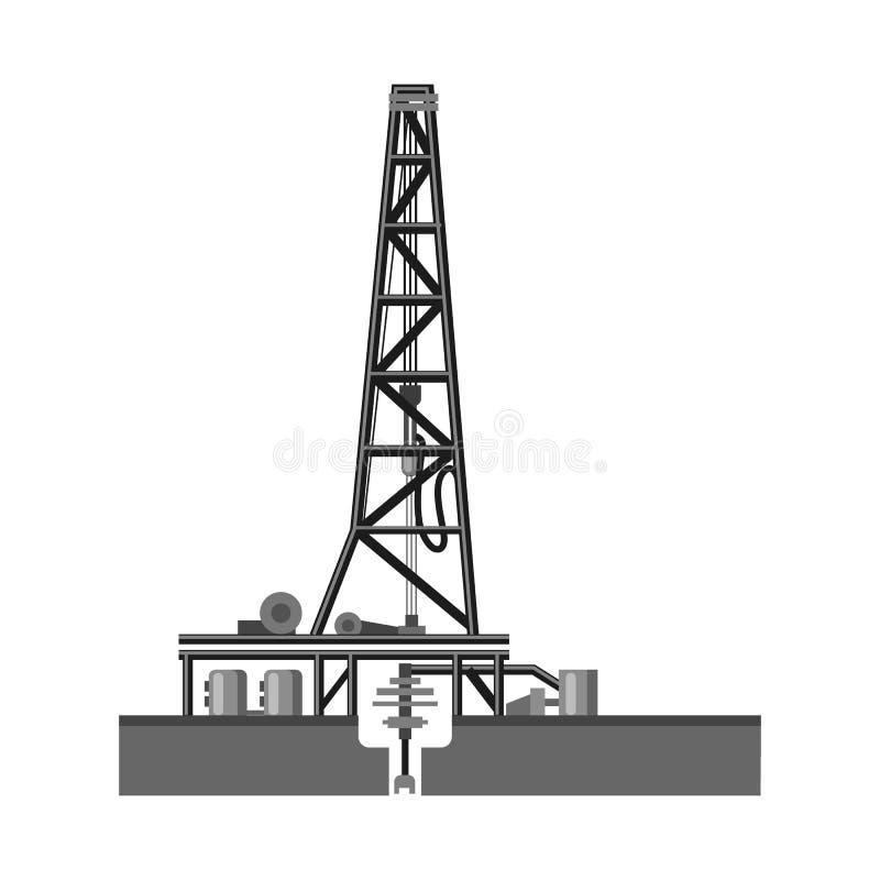Wektorowy projekt ropa i gaz ikona Set oleju i benzyny wektorowa ikona dla zapasu ilustracji