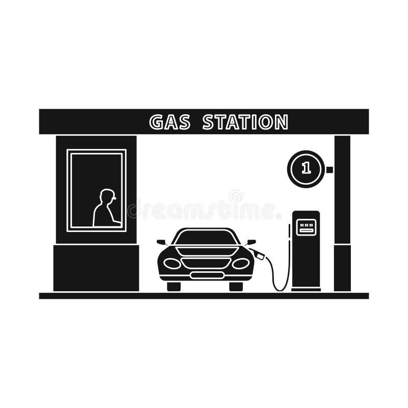 Wektorowy projekt ropa i gaz logo Kolekcja oleju i benzyny akcyjna wektorowa ilustracja ilustracja wektor