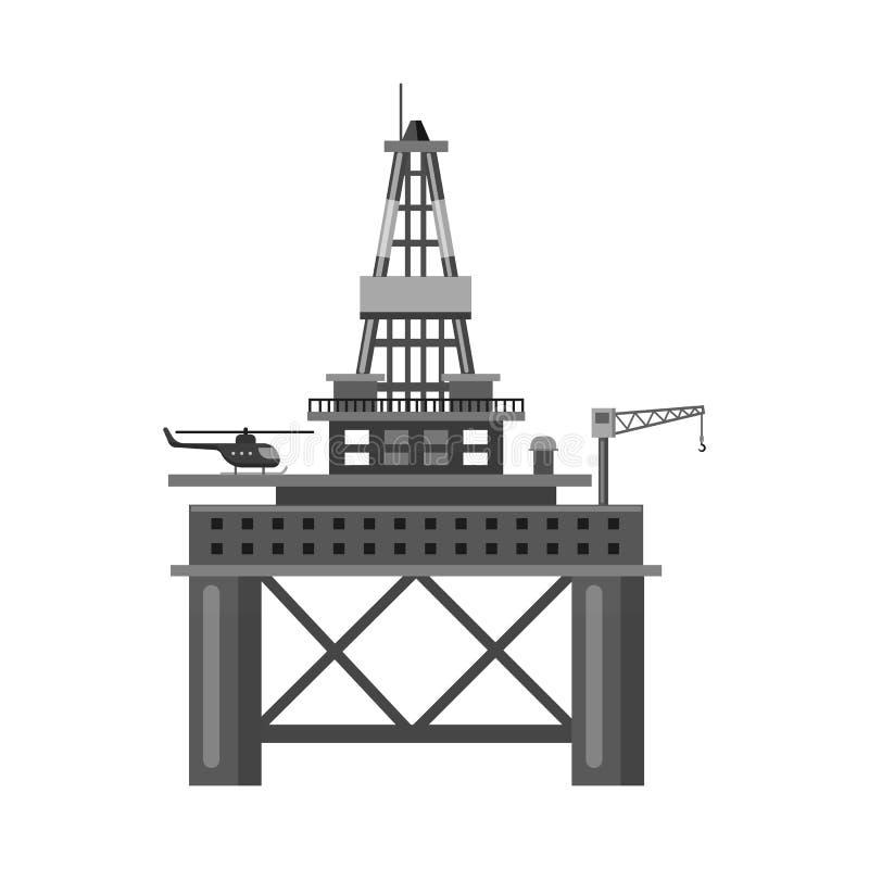 Wektorowy projekt ropa i gaz logo Kolekcja oleju i benzyny akcyjny symbol dla sieci ilustracja wektor