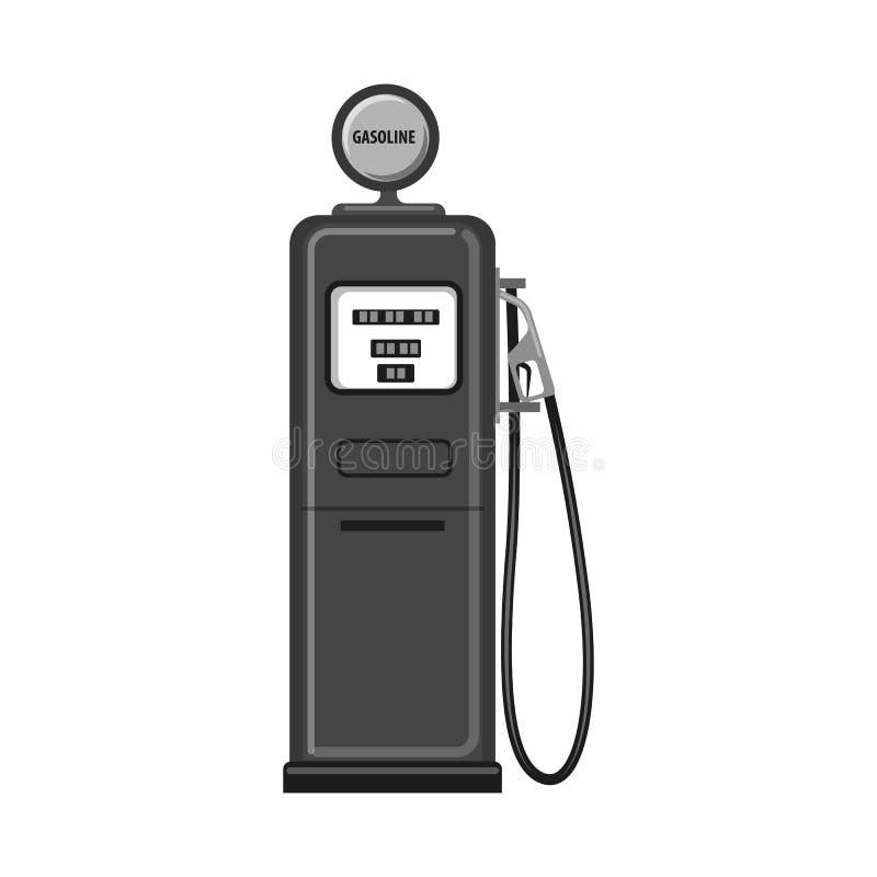Wektorowy projekt ropa i gaz logo Kolekcja oleju i benzyny wektorowa ikona dla zapasu royalty ilustracja
