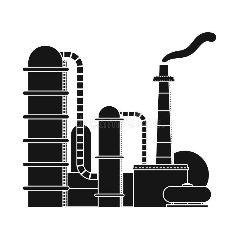 Wektorowy projekt ropa i gaz logo Set oleju i benzyny akcyjny symbol dla sieci royalty ilustracja