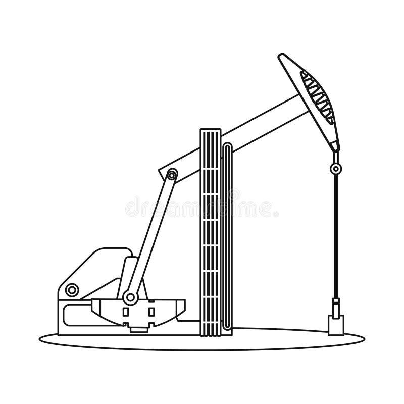 Wektorowy projekt ropa i gaz symbol Kolekcja oleju i benzyny wektorowa ikona dla zapasu ilustracja wektor