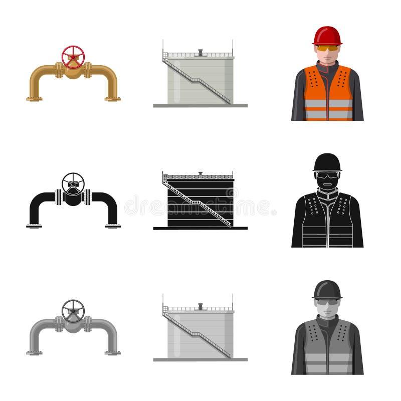 Wektorowy projekt ropa i gaz znak Kolekcja oleju i benzyny akcyjna wektorowa ilustracja ilustracji
