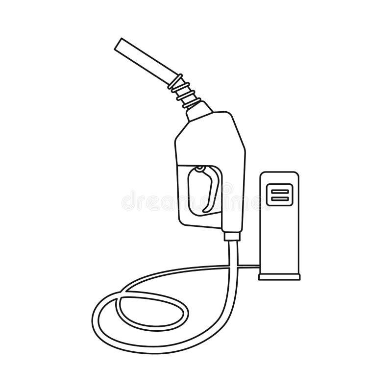 Wektorowy projekt ropa i gaz znak Set oleju i benzyny akcyjna wektorowa ilustracja royalty ilustracja