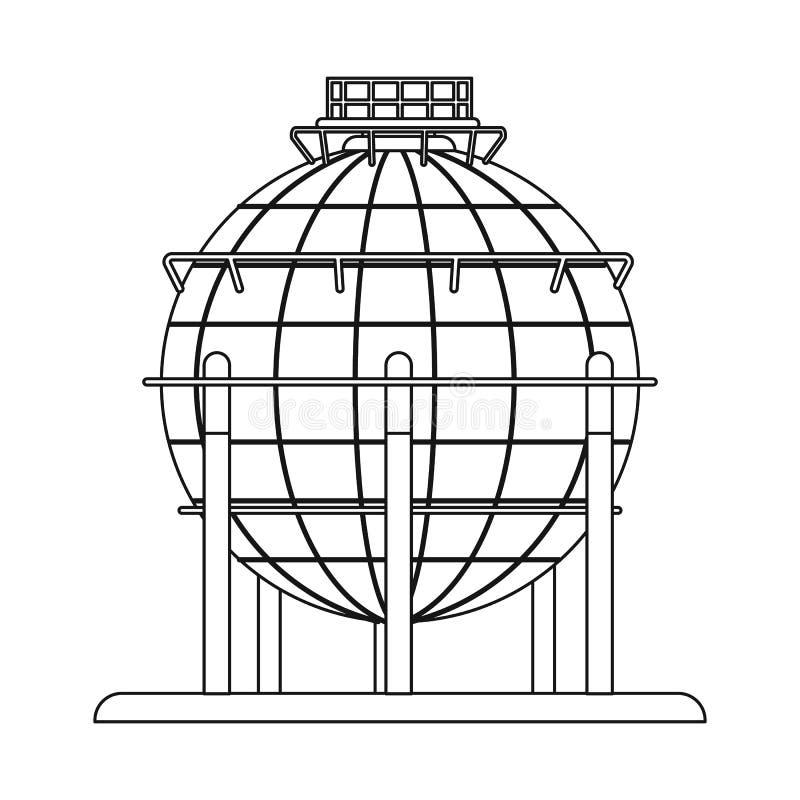 Wektorowy projekt ropa i gaz znak Set oleju i benzyny akcyjny symbol dla sieci ilustracja wektor