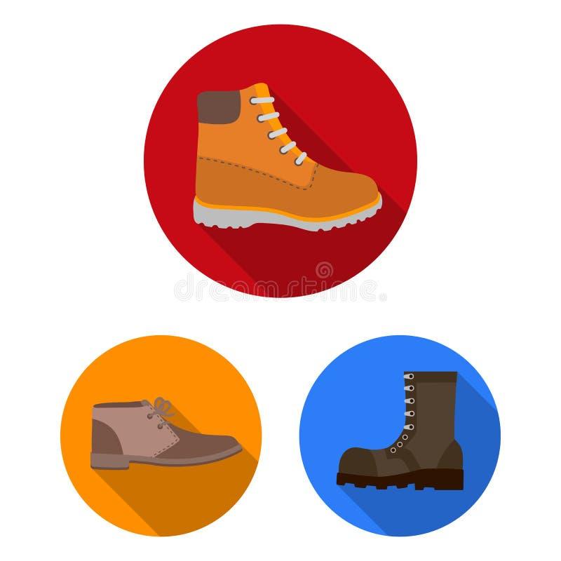 Wektorowy projekt rzemienny i przypadkowy logo Set rzemienny i formalny akcyjny symbol dla sieci ilustracja wektor