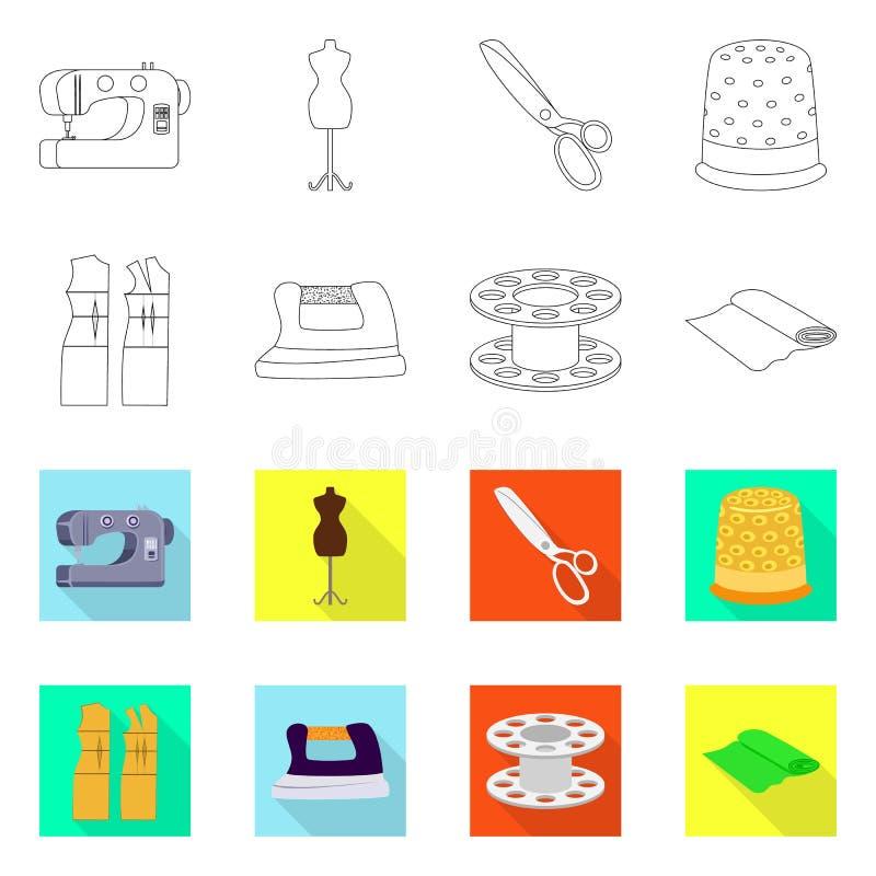 Wektorowy projekt rzemios?o i handcraft znaka Set rzemios?a i przemys?u wektorowa ikona dla zapasu ilustracji