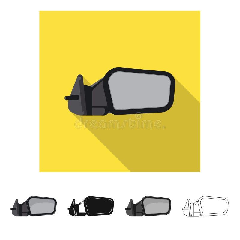 Wektorowy projekt samochodu i cz??ci logo Set auto i samochodowy akcyjny symbol dla sieci royalty ilustracja