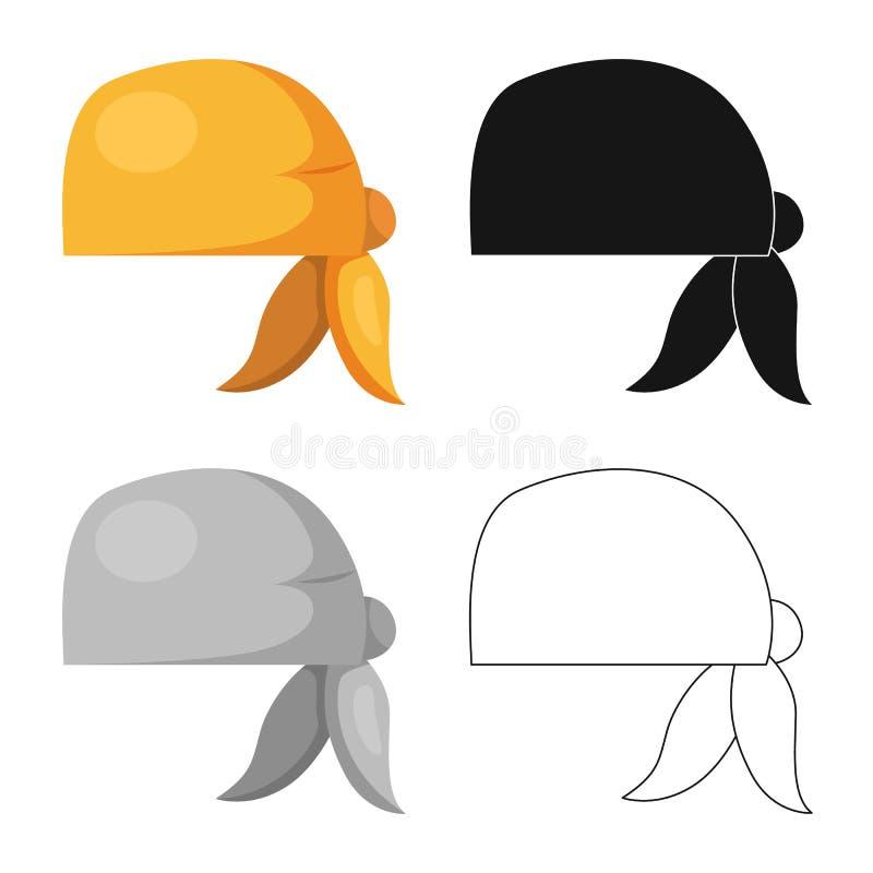 Wektorowy projekt szalika i chusty logo Set szalika i akcesorium akcyjna wektorowa ilustracja ilustracja wektor