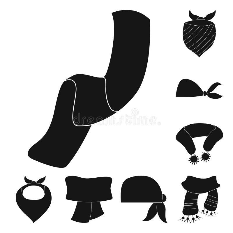 Wektorowy projekt szalika i chusty znak Kolekcja szalika i akcesorium akcyjna wektorowa ilustracja ilustracji