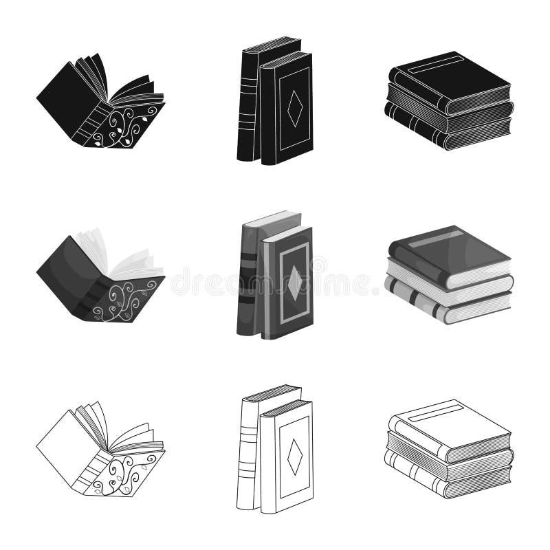 Wektorowy projekt szkolenia i pokrywy ikona Kolekcja szkolenie i bookstore akcyjna wektorowa ilustracja royalty ilustracja