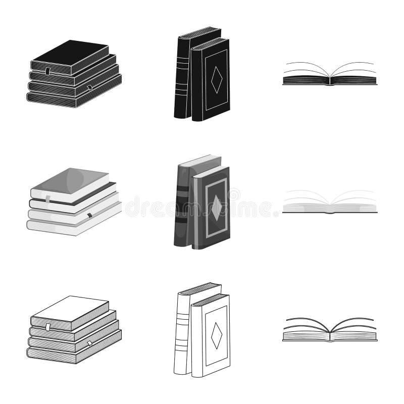 Wektorowy projekt szkolenia i pokrywy ikona Kolekcja szkolenie i bookstore akcyjny symbol dla sieci royalty ilustracja