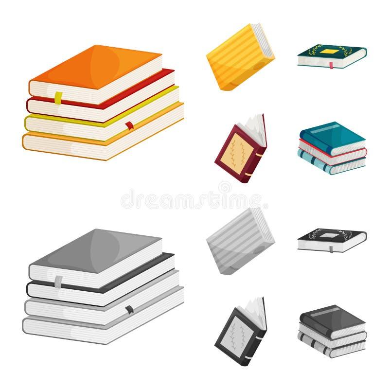 Wektorowy projekt szkolenia i pokrywy ikona Kolekcja szkolenie i bookstore akcyjny symbol dla sieci ilustracja wektor