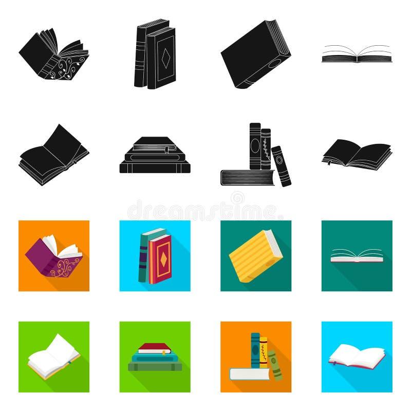 Wektorowy projekt szkolenia i pokrywy ikona Set szkolenie i bookstore akcyjna wektorowa ilustracja ilustracja wektor