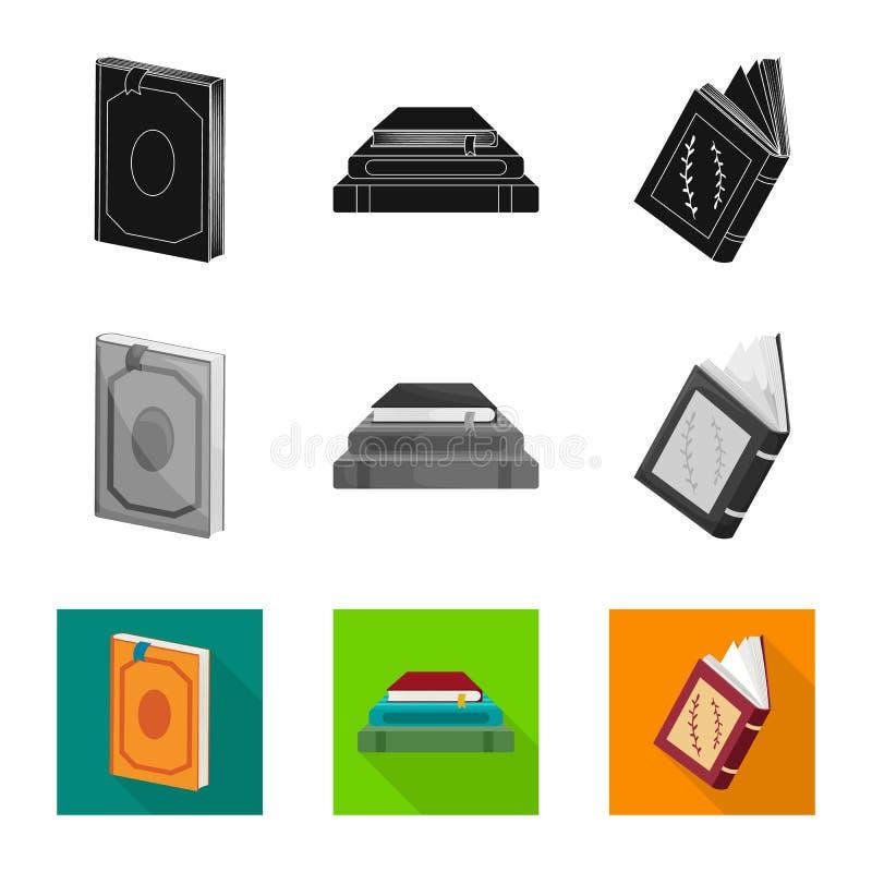 Wektorowy projekt szkolenia i pokrywy ikona Set szkolenie i bookstore akcyjny symbol dla sieci royalty ilustracja