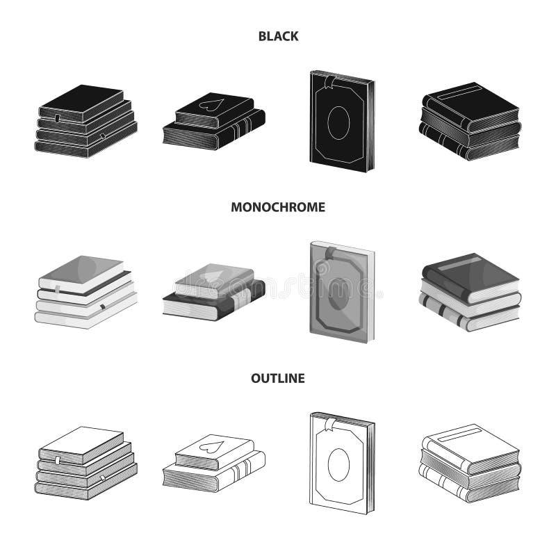 Wektorowy projekt szkolenia i pokrywy ikona Set szkolenie i bookstore akcyjny symbol dla sieci ilustracja wektor