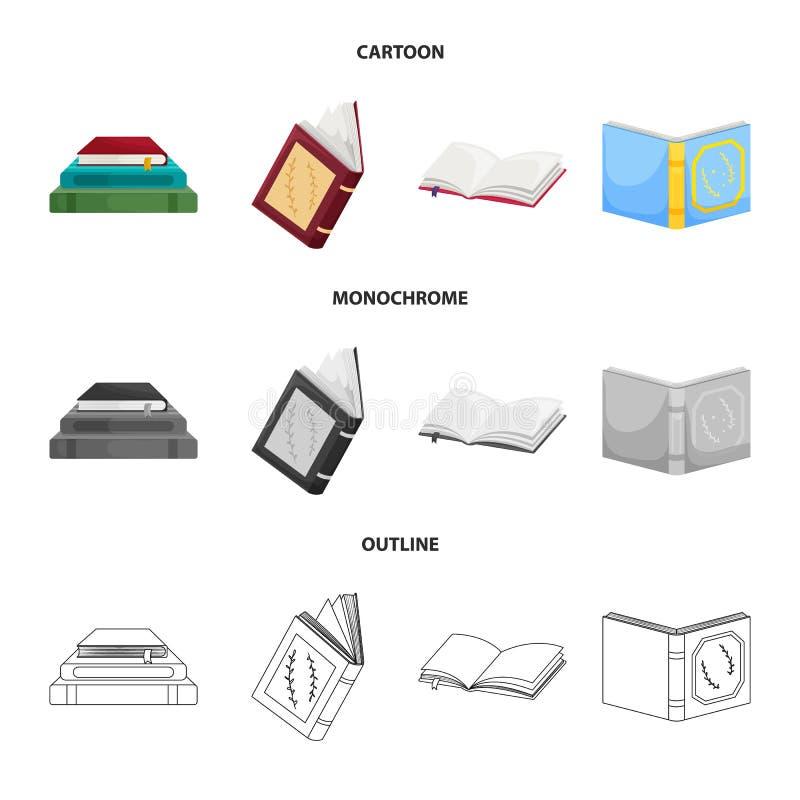 Wektorowy projekt szkolenia i pokrywy logo Kolekcja szkolenie i bookstore akcyjny symbol dla sieci ilustracja wektor
