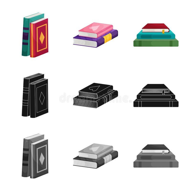 Wektorowy projekt szkolenia i pokrywy logo Kolekcja szkolenie i bookstore wektorowa ikona dla zapasu royalty ilustracja