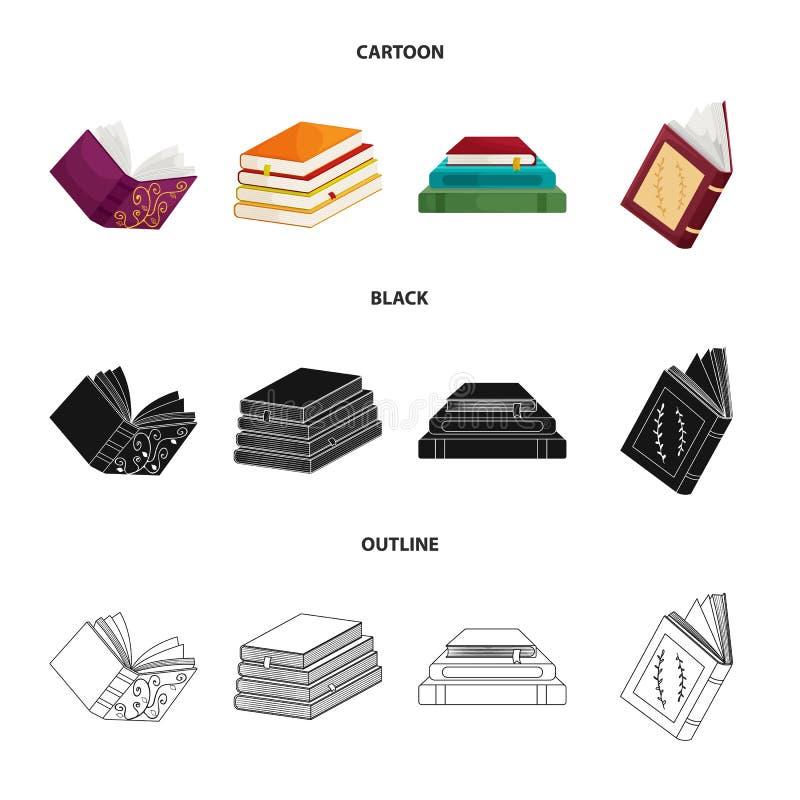 Wektorowy projekt szkolenia i pokrywy logo Set szkolenie i bookstore akcyjna wektorowa ilustracja ilustracja wektor