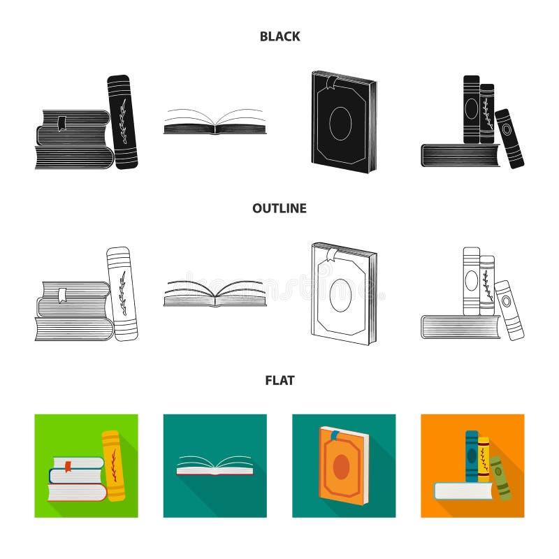 Wektorowy projekt szkolenia i pokrywy logo Set szkolenie i bookstore akcyjna wektorowa ilustracja ilustracji