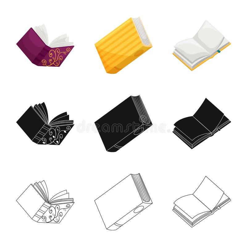 Wektorowy projekt szkolenia i pokrywy logo Set szkolenie i bookstore akcyjny symbol dla sieci royalty ilustracja