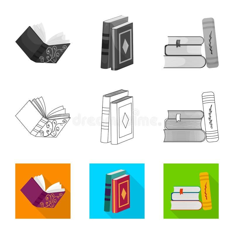 Wektorowy projekt szkolenia i pokrywy logo Set szkolenie i bookstore akcyjny symbol dla sieci ilustracja wektor