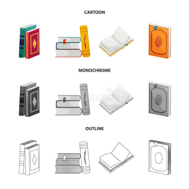 Wektorowy projekt szkolenia i pokrywy logo Set szkolenie i bookstore wektorowa ikona dla zapasu ilustracji